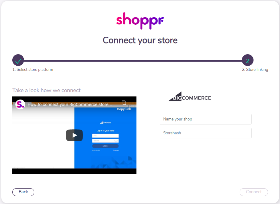 BigCommerce Connection Guide